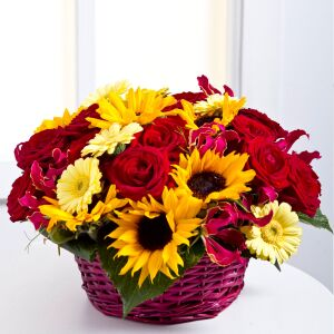 Flower Arrangement in Basket