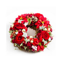 Christmas Wreath with Flowers