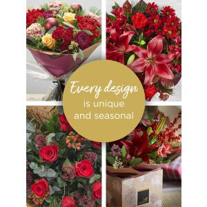 CHRISTMAS FLORIST'S CHOICE HAND-TIED