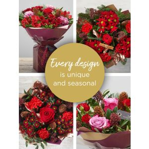CHRISTMAS FLORIST'S CHOICE FLORAL GIFT BOX