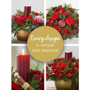 CHRISTMAS FLORIST'S CHOICE CANDLE ARRANGEMENT
